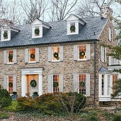 Colonial Home, Cottage, home exterior Colonial Home, Cottage, home exterior Exterior Colonial, Colonial House Exteriors, Design Exterior, Stone Home Exteriors, Cottage Exterior, Stucco Exterior, Stone Exterior Houses, Gray Exterior, Colonial House Plans