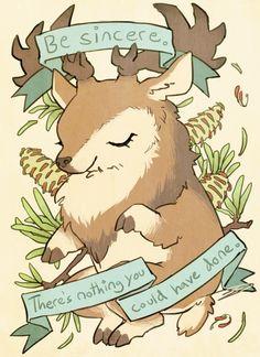 Be Sincere Deer by reapersun