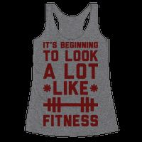 Its Beginning To Look A Lot Like Fitness #christmas #funnyshirt #workouttank #fitnesstank #lazy