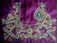 Rich Floral Work Designer Blouses