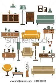 Image result for floor plan furniture vector Floor Plan Symbols, Modern Couch, Flat Illustration, Armchair, Floor Plans, Display, Flooring, How To Plan, Interior
