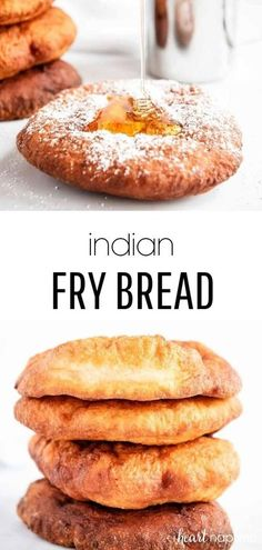 This Indian fry bread is deep fried until golden brown and then served as savory or sweet. Perfectly crispy and bubbly on the outside, while soft and chewy on the inside. #bread #breadrecipe #frybread #friedbread #homemade #homemadebread #recipes #iheartnaptime Easy Fry Bread Recipe, Fried Bread Recipe, Easy Bread, Breakfast Bread Recipes, Banana Bread Recipes, Breakfast Cookies, Kitchen Recipes, Cooking Recipes, Babka Recipe