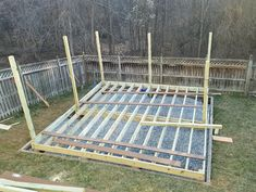 DIY Floating Deck in a Sloped Backyard
