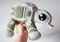 This might be the most adorable AT-AT walker I've ever seen, and thanks to Etsy user Krawka, you can crochet one of your own at home, given that you know how to crochet, of course. Crochet wa…