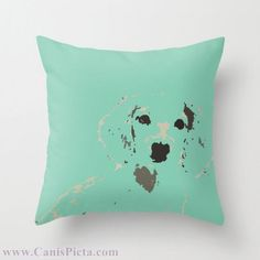 """Dachshund Mint OR Pink 16"""" x 16"""" Graphic Print Throw Pillow Cover - Dog, Doxie, Dach, Doxies, Weiner, Sausage, Puppy, Bright, Home, Green"""