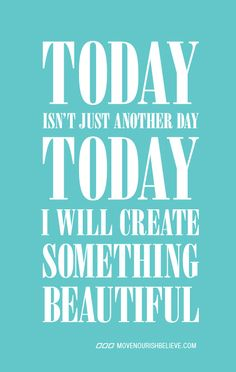 I'm gonna create something better, even better than myself TODAY! :D