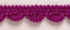 Stitchfinder: Knit Trim: Garter Stitch Loops - Lion Brand Yarn