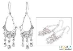 3f5f4c346340 Novica Sterling  Taxco Treasure  Earrings Aretes