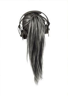 Headphone ponytail