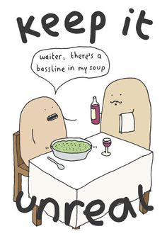 'Waiter, there's a bassline in my soup' Signed Art Print / Mr. Scruff / Releases / Ninja Tune