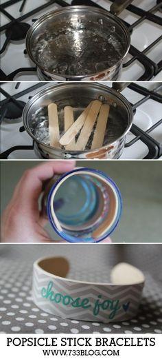 DIY Ideas: Popsicle Stick Bracelets Tutorial - Inspiration Ma...