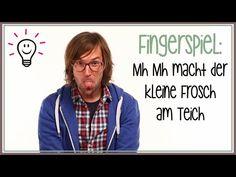 Fingerspiele: Mh Mh macht der kleine Frosch am Teich | mit herrH - YouTube Kindergarten Activities, Activities For Kids, 4 Kids, Children, Kids Songs, Kids Videos, Workplace, German, Sayings