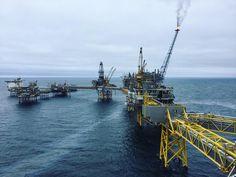 Grey skies over the Ekofisk oil field this morning. Waiting for a chopper back to shore  #ekofisk #ekofisklima #oilfield #offshorelife #offshore #northsea #travelgram #norway by photomonsterr