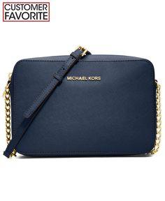"""luggage"" color (darker brown) not peanut. MICHAEL Michael Kors Jet Set Travel Large Crossbody ($148)"