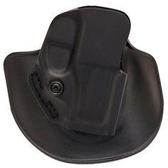 Open Top Paddle-Belt Slide Holster - Ruger LC9, Plain Black