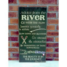 River Sign by atmiles on Etsy, $35.00