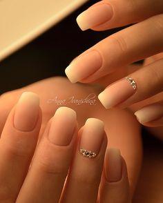 35 Simple Ideas for Wedding Nails Design Stylish Nails, Trendy Nails, Cute Nails, Hair And Nails, My Nails, Natural Wedding Nails, Bridal Nail Art, Bride Nails, Braut Make-up