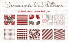 Brown and red patterns by Etoile-du-nord.deviantart.com on @deviantART