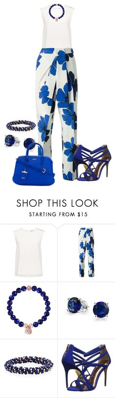 """""""blue"""" by kim-coffey-harlow ❤ liked on Polyvore featuring Finders Keepers, Chloé, Bling Jewelry, Meredith Frederick, Ted Baker and DKNY"""