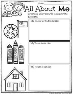 All About Me Activities - Planning Playtime Alphabet Activities Kindergarten, Preschool Letters, Preschool Education, Vocabulary Activities, Preschool Worksheets, Preschool Learning, Daycare Curriculum, Learning Activities, Homeschool