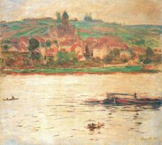 Vetheuil, Barge on the Seine, 1902, Claude Monet