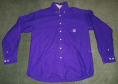 Men's Purple CINCH Country Western Button Up Long Sleeve Shirt, Size S, GUC! #CINCH #ButtonFrontCountryWesternEmbroideredLogo