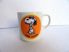 Joe Cool Snoopy Mug by HolyCityVintage on Etsy