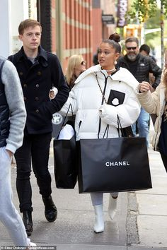 Strut your stuff like Ariana in Christian Louboutin white boots #DailyMail