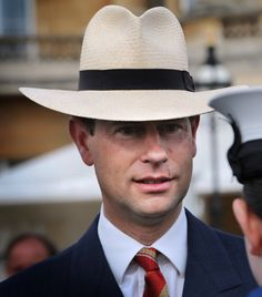 Posted on July 18, 2013 by HatQueen...Prince Edward, Earl of Wessex, attending a Buckingham Palace Garden Party, July 5, 2010