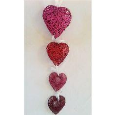 "Today's Theme ""Romantic"" :- Glitter Heart Hanging"