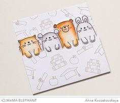 Mama Elephant Designer Series: Page Huggers @akossakovskaya #cardmaking…