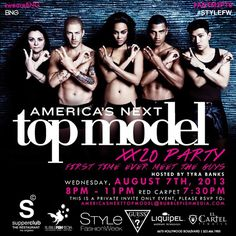 America's Next Top Model Party Hosted by Tyra Banks w/ Darringo @ Supper Club ~on~ August 7 America's Next Top Model, Hollywood Boulevard, Tyra Banks, Supper Club, Host A Party, Orange County, Current Events, Night Life, First Time