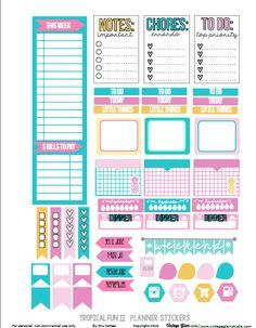 Tropical Planner Stickers 2