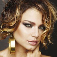 TMVbijoux: Milena Toscano apostando no Ombré hair para cabelos curtos.