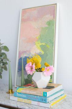 A pretty pastel spri