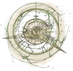 Floating Architecture, Architecture Plan, Amazing Architecture, Architecture Diagrams, Architecture Collage, Architecture Student, Landscape Architecture, Abstract Drawings, Bird Drawings