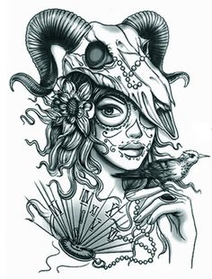 1sheet-3D-Tattoo-Goat-Skull-Mask-Beauty-Temporary-Tattoo-Sticker-Body-Art.jpg (540×711)
