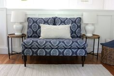 Add a stylish look to any room with this beautiful Emilio settee. Upholstered in a pattern fabric and delicately handcrafted in plush foam padding, it makes you feel at ease when sitting. Shine Your Light, Settee, Living Room Chairs, Coastal Living, Fabric Patterns, Love Seat, Family Room, Accent Chairs, Farm Houses