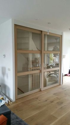 Open Trap, Pvc Flooring, Stair Storage, House Stairs, Built Ins, Stairways, Sliding Doors, Glass Door, Room Inspiration