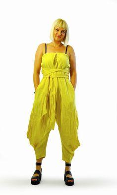 b49d6446a9 Yellow Linen Jumpsuit Maxi Loose 100% Linen Jumpsuit Cute Sexy Jumpsuit  Woman Dress Jumpsuit Handmade yellow jumpsuit Casual jumpsuit G1348