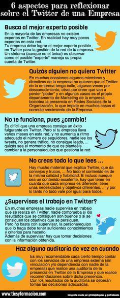 6 Aspectos para reflexionar sobre el #Twitter de una empresa: