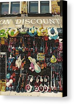 Toys Galore Canvas Print by Onedayoneimage Photography.  All canvas prints are professionally printed, assembled, and shipped within 3 - 4 business days and delivered ready-to-hang on your wall. Choose from multiple print sizes, border colors, and canvas materials.