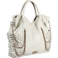 Betsey Johnson studded chain handbag