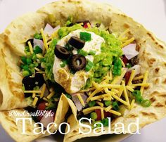 Taco Salad....So VERY GOOD! from PineCreekStyle, blog, FB, Pinterest & Instagram..'Nuff Said!!! :)))