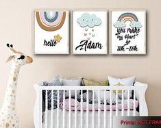 Wall Art For Nursery Wall Art For Bathroom Home by FKArtDesign Bathroom Wall Art, Nursery Wall Art, Bedroom Wall, Nursery Decor, Playroom Wall Decor, Boys Room Decor, Housewarming Gifts, House Warming, Baby Shower Gifts