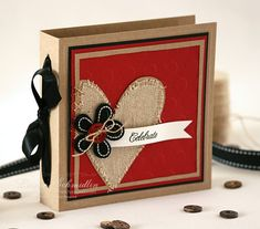 cute exterior for a post-it note holder or Valentine mini