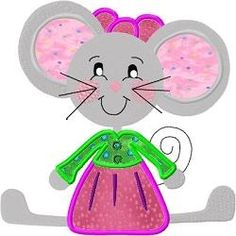 Darling Mouse Applique Singles