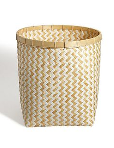 Ordinaire Handwoven Bamboo Set Of 2 Round Baskets