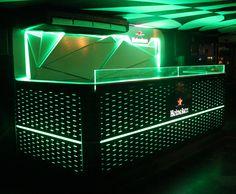 Dj Booth Heineken, para antro Rioma, Insurgentes - Cd de México. Iluminación sincronizada al ritmo de la música, para simular un ecualizador. Conoce mas en www.rcarmona.com
