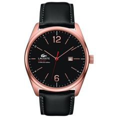 Lacoste - Men\'s Austin Black Leather Bracelet Watch - 2010747 - Online Price: £170.00